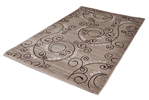 "TAPIS MONDIALE SONA-LUX Tapis design moderne beige ""Choisir Taille"" 80 x 300 cm"