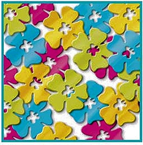 Fanci-Fetti Hibiscus Flowers (C/LG/O/T) Party Accessory  (1 count) (1 Oz/Pkg)