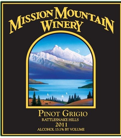 2011 Mission Mountain Winery Pinot Grigio 750 Ml
