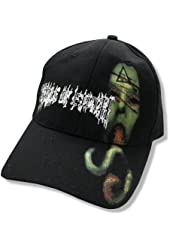 "Cradle of Filth ""Snake Tongue"" Black Fitted Baseball Cap Hat OSFM"