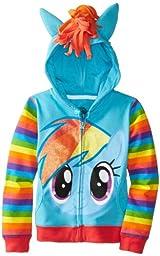 My Little Pony Big Girls\' Rainbow Dash Hoodie, Blue/Multi, 7/Small