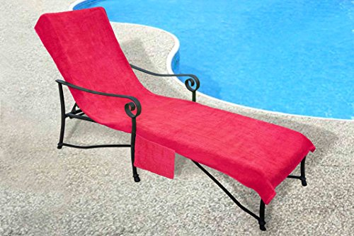 Pool Side 1000 Gram Chaise Cover Pool lounge Chair Cover with 10 Inch Slip o