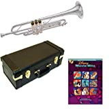 Disney Movie Hits Bb Silver Plated Trumpet Pack - Includes Trumpet w/Case & Accessories & Disney Movie Hits Play Along Book