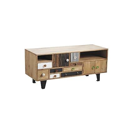 Mueble TV madera 8cajones dépareillés