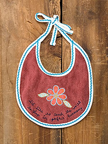 I'd Like to Teach the World to Sing in Perfect Harmony Baby Bib By Natural Life - 1