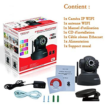 2x camera foscam fl8918w fl8918w cam ra ip wifi de de surveillance internet motoris e. Black Bedroom Furniture Sets. Home Design Ideas