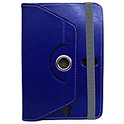 BRAIN FREEZER ROTATING FLIP COVER CASE POUCH CARRY CASE COVER CASE POUCH STAND FOR AMBRANECALLING KING AC-7 DARK BLUE