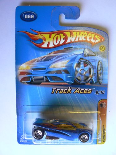 Hot Wheels Track Aces 9/10 Sling Shot 2005 #069 Malaysia Base Yellow Windows - 1
