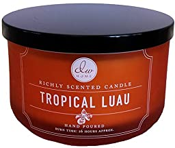 Decoware Exotic Richly Scented Tropical Luau 3-Wick Candle 15.32 Oz. In Glass