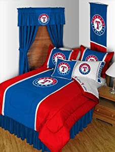 MLB Texas Rangers Queen Bedding Set - 5pc Bed in Bag - Queen Bed by MLB