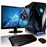 VIBOX Warrior Package 4 - Top Gaming PC, Multimedia, High Spec, Desktop PC, USB3.0 Computer Full Package with 22