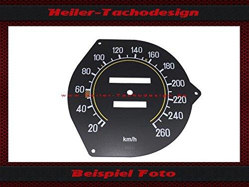 Tachoscheibe Mercedes W107 R107 SL SLC 160 Mechanischer - Tacho Mph zu Kmh