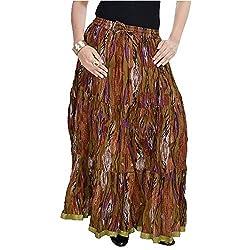 SHREEMANGALAMMART Ethnic Multi Floral Pure Cotton Skirt(Multi)(SMSKT564)