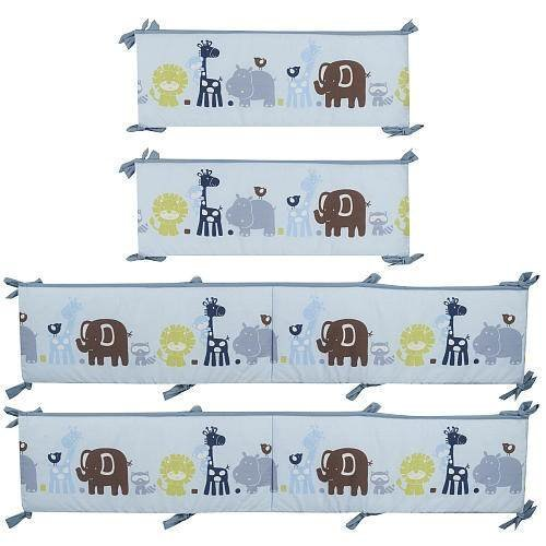 Just Born Zoo Crew Crib Bumper