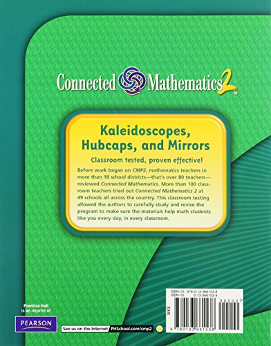 Connected Mathematics 2 workbook Moving Straight Ahead (2006) 7th Grade