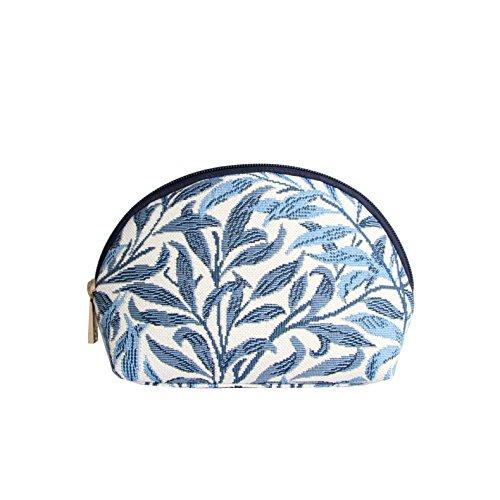 Borsa donna di Signare per il trucco in tessuto stile arazzo alla moda floreale (willow)