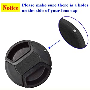 ULBTER 5 Pack Elastic Lens Cap Keeper Lens Cover Leash Prevent Lens Cap Lost Compatible with Canon/Nikon/Sony/Fujifilm/Olympus/Panasonic DSLR SLR Camera and More (Color: Cap Keeper)