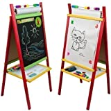 Standkindertafel 98x45cm Papierrolle Abakus Standtafel Kindertafel Magnettafel Maltafel