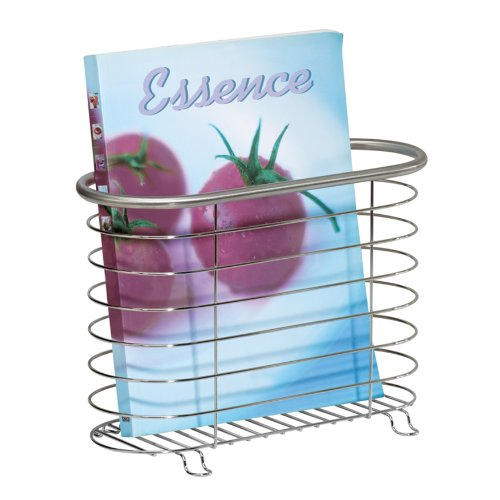 InterDesign Forma Ultra Magazine Holder, Brushed Stainless Steel