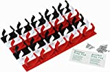 DecoBros 30 Spice Gripper Clips Strips Cabinet Holder - 6 Strips, Holds 30 Jars