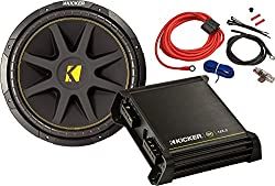 Kicker 42KCB12512 Bass Starter Package (Amplifier+Subwoofer+Amp Kit)