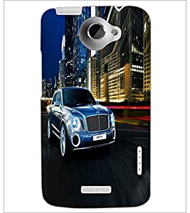 PRINTSWAG SILVER CAR Designer Back Cover Case for HTC ONE X