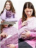 """Mania bufanda para lactancia """"Purple me"""" con depósito integrado para discos de lactancia, en talla 2, para mujeres con talla L-XL hecho a mano"""