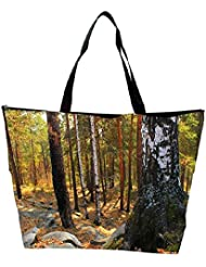 Snoogg Black Stones In Forest Designer Waterproof Bag Made Of High Strength Nylon