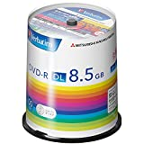 三菱化学メディア Verbatim DVD-R(Data) <片面2層> 1回記録用 8.5GB 2-8倍速 100枚 スピンドルケース シルバーレーベル DHR85H100SV1