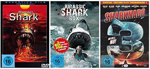 DIE HAI - COLLECTION 2 ( Jurassic Shark 1-3 - Monster Shark - Sharknado 1-3 ) [5 DVDs]