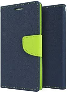 Wellcare Mercury Goospery FANCY Diary Card Wallet CASE Flip Cover for Samsung Galaxy Core I8262-Blue/Green