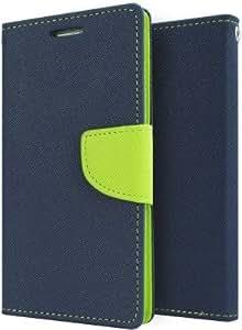 Wellcare Mercury Goospery FANCY Diary Card Wallet CASE Flip Cover for Motorola Moto G3 (3rd Gen)-Blue/Green