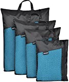 """Sinland Microfiber Ultra Compact & Fast Drying Travel Towels(Light Blue, 2 Pack of 12""""x24"""")"""