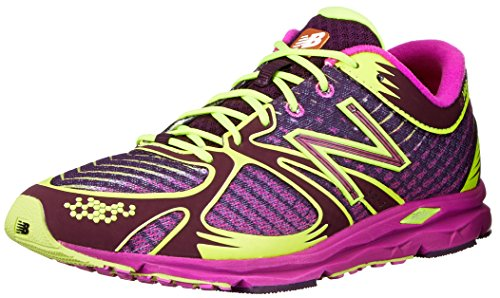 New Balance Women'S W140 Glow In The Dark Running Shoe,Purple/Yellow,7.5 B Us