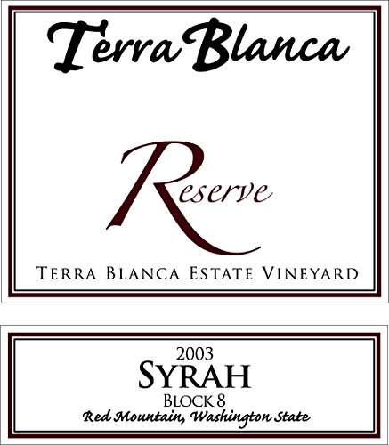 2003 Terra Blanca Reserve Red Mountain Syrah Block 8 750 Ml
