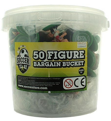 SoccerStarz Standard Football Figure Bargain Bucket (50-Piece) by Creative Toys Company
