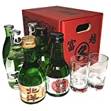 富山の地酒 いやしの薬箱(180ml×6本+冷酒グラス2個セット)