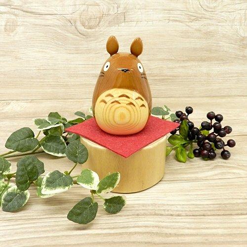 Ghibli My Neighbor Totoro wood carving of Totoro Brown From Japan New
