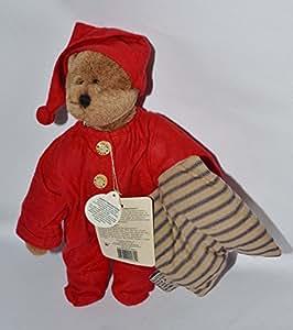 "9"" Boyds Bear Denton P. Jodibear - Jody Battaglia Design - Plush Bear in drop seat pjs & Night cap holding pillow - 92000-06 Retired"