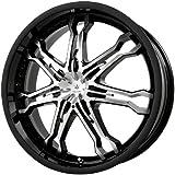 "Verde Custom Wheels Calibre Gloss Black Wheel with Machined Spoke (20x7.5""/5x4.5"")"