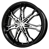 Verde Custom Wheels Calibre Gloss Black Wheel with Machined Spoke (17x7.5