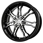 Verde Custom Wheels Calibre Gloss Black Wheel with Machined Spoke (17×7.5″/5×4.5″)