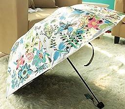 Black Super Uv Sun Umbrella Watercolor Vinyl Lace Parasol Umbrella Folding Umbrella