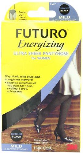 Futuro Ultra Sheer Pantyhose for Women, French Cut, Mild (8-15 mm/Hg)