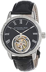 Stuhrling Original Men's 312S.3315X1 Tourbillon Diamond Dominus Limited Edition Mechanical Black Dial Watch
