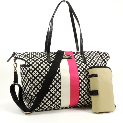 Kate Spade Classic Spade Adaira Baby Bag in Black & Cream - 1