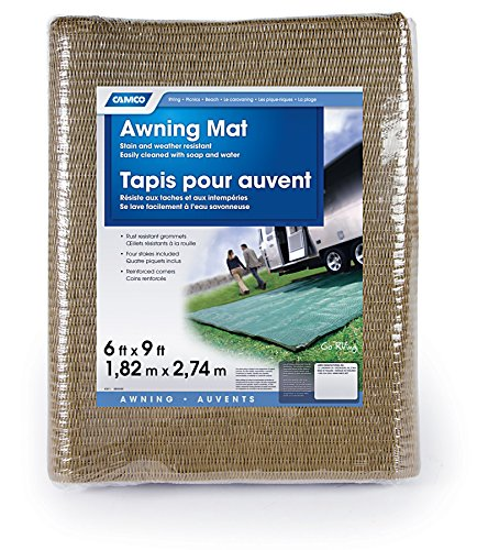 Review Of Camco 42883 Reversible Awning Leisure Mat (6' x 9', Brown)