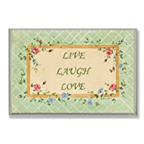 Stupell Industries Live Laugh Love Green Rectangle Wall Plaque
