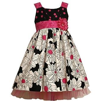Amazon.com: Size-6X BNJ-7729-R PINK BLACK WHITE FLORAL PRINT POLKA DOT