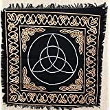 New Age Imports, Inc. New Age Imports, Altar Tarot Cloth: Triquetra-24 x 24